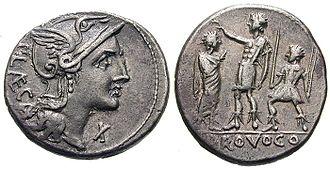 Porcia (gens) - Image: Publius Porcius Laeca Denarius