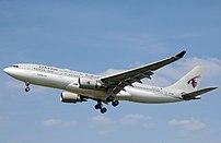 Airbus A330-200 landing.