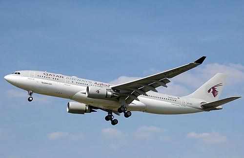 Qatar Airways Airbus A330-200 (Adrian Pingstone, via Wikimedia Commons)