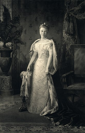 Queen Wilhelmina, queen of the Netherlands from 1890 to 1948. Queen Wilhelmina2.jpg