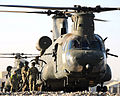 RAF Chinook Helicopter Refuelling at Camp Bastion, Afghanistan MOD 45153333.jpg