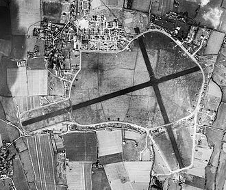 RAF Tangmere - Aerial photograph of Tangmere airfield, 10 February 1944.