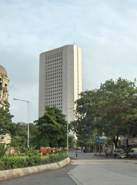 The Reserve Bank of India (established in 1935) Headquarters in Mumbai. RBI-Tower.jpg