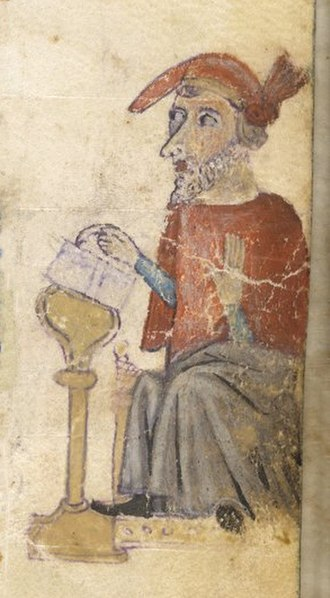 Eleazar ben Azariah - Medieval miniature depicting rabbi Eleazar ben Azaryah.