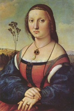 Risultato immagini per ritratto Maddalena Dondi di raffaello