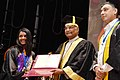 Ram Nath Kovind presenting the President's Gold Medal for the best Academic Performance in Biological Sciences to Ms. Saloni Rose, at the 7th Convocation of Indian Institute of Science Education & Research (IISER).JPG