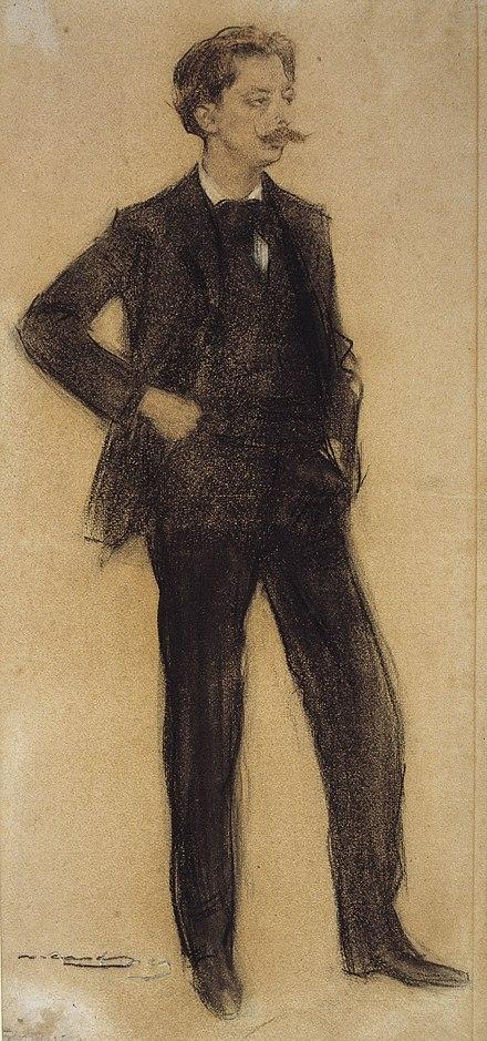 Granados visto por Ramón Casas (MNAC).