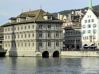 Zunfthaus zur Saffran Building in Zürich, Switzerland