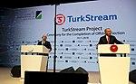 Recep Tayyip Erdoğan and Vladimir Putin at the opening ceremony of TurkStream Pipeline 2.jpg