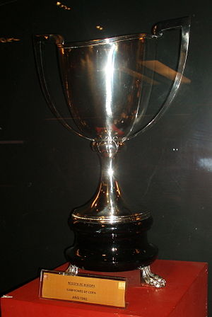 UEFA Cup Winners' Cup - The trophy awarded to Atlético Madrid in 1962.