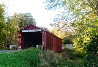 Bureau County, Illinois - Image: Red Covered Bridge