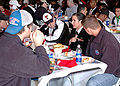 Red Raiders at USS Tarawa for 2004 Holiday Bowl 041227-N-5517C-046.jpg