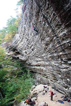 Red River Gorge - Rock climbing in The Motherlode area of Red River Gorge