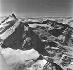 Redoubt Volcano, mountain glacier with bergschrund, August 26, 1969 (GLACIERS 6782).jpg