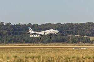 Narrandera Airport - Regional Express Saab 340B taking off