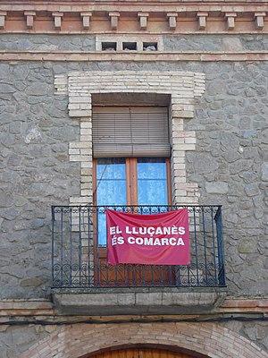 Lluçanès - Banner in Prats de Lluçanès in 2007, claiming Lluçanès as a comarca