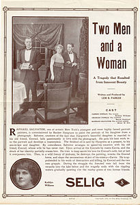 Release flier for TWO MEN AND A WOMAN, 1913.jpg