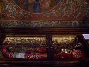St Nedelya Church - The relics of Serbian king Stefan Milutin (r. 1282–1321) in the St Nedelya Church