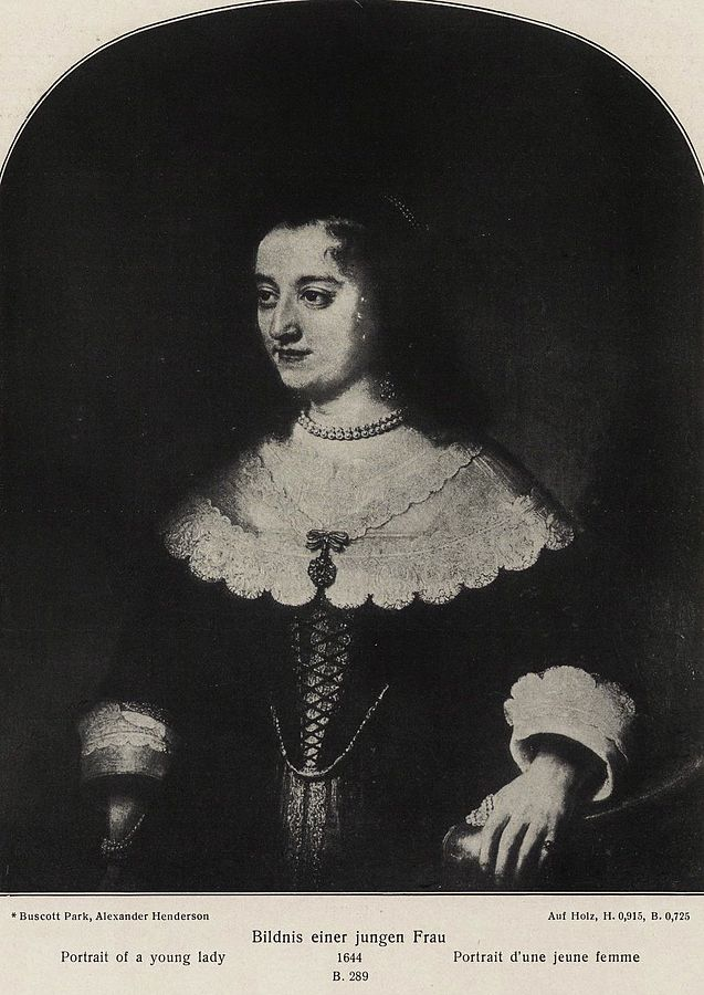 A Young Woman holding a Staircase Bannister