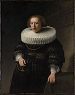 Rembrandt - Portrait of a woman, possibly a member of the Beresteyn family - MET DP145399.jpg