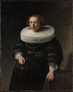 Portrait of a Man, probably a Member of the Van Beresteyn Family - Image: Rembrandt Portrait of a woman, possibly a member of the Beresteyn family MET DP145399