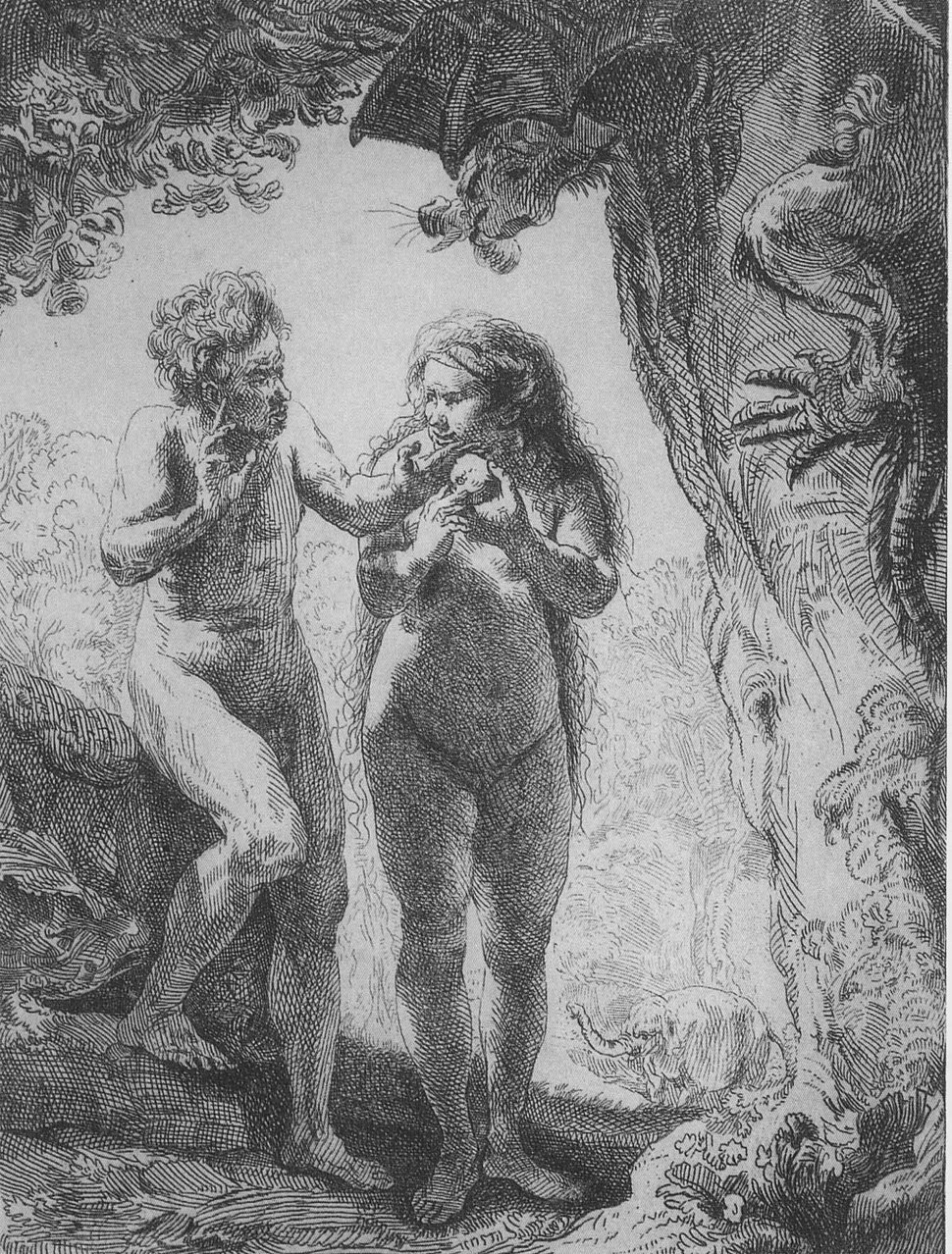 Rembrandt adam and eve
