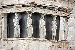 Replicas of the Caryatids at the Erectheum 2010 5.jpg