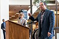 Representative Keith Ellison speaking in support of DACA at Hennepin County Government Center Minneapolis, MN (27787344009).jpg