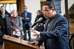 Representative Keith Ellison speaking in support of DACA at Hennepin County Government Center Minneapolis, MN (39562593921).jpg