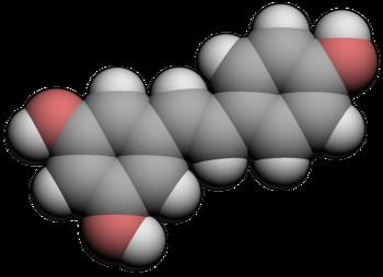 3d molecular spacefill of Resveratrol