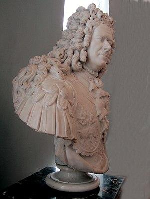 Carlo Bartolomeo Rastrelli - Bust of Alexander Menshikov, the marble copy.