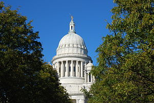 "Government of Rhode Island - The State House in Providence is the seat of power for the state, and is often referred to as ""Smith Hill""."