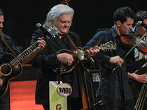 Ricky Skaggs jams with OCMS at the Grand Ole Opry 23 Feb 2013.JPG