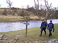 River Wharfe pathway sign - geograph.org.uk - 1198907.jpg