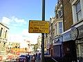 Road layout changed sign, Chatham, Kent.jpg