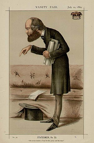 "Robert Gascoyne-Cecil, 3rd Marquess of Salisbury - The Marquess of Salisbury caricatured by ""Ape"" in Vanity Fair, 1869"