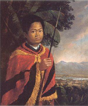 Kamehameha III - Painting by Robert Dampier, 1825, Honolulu Museum of Art