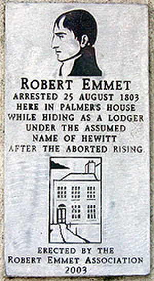 Harold's Cross - Plaque to Robert Emmet on Harold's Cross Road.