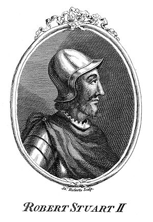 Robert Stuart II, King of Scotland from 1371; by J. Roberts Wellcome L0010445.jpg