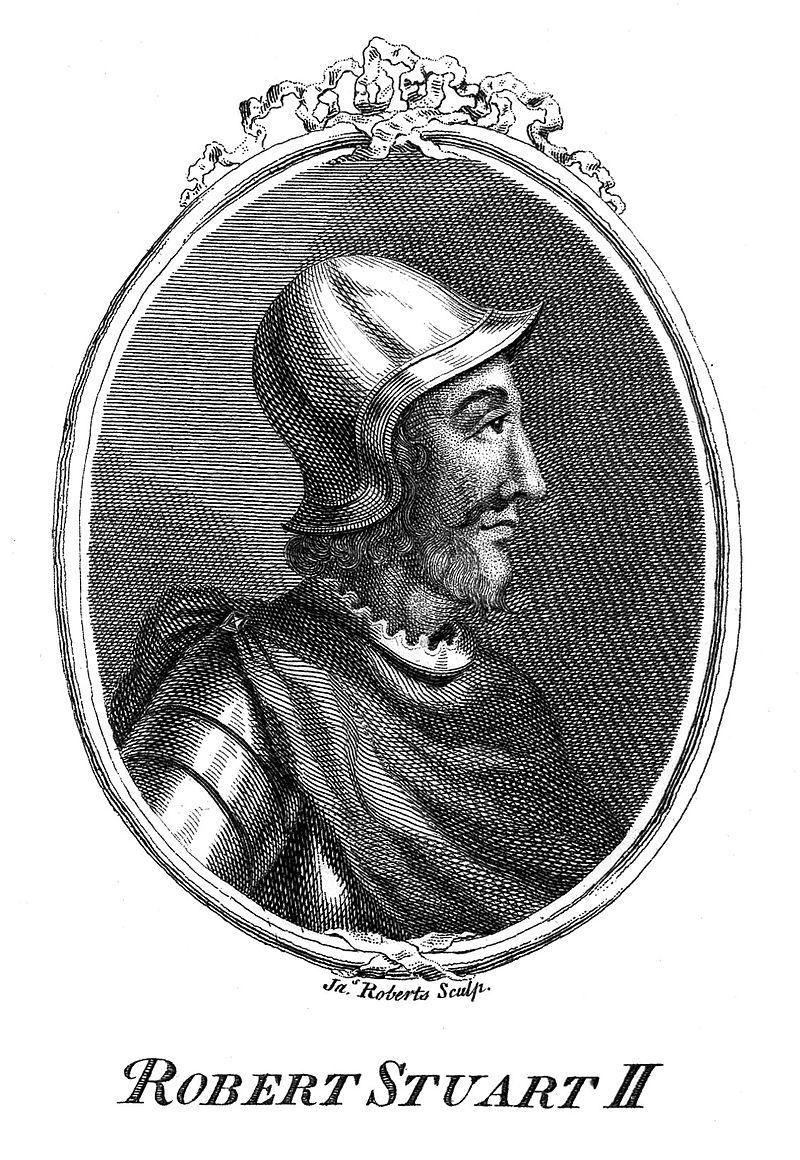 Роберт Стюарт II, король Шотландии с 1371 г .;  Дж.  Робертс Веллком L0010445.jpg