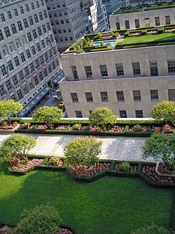 Roof gardens atop Rockefeller Plaza buildings