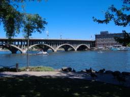 Jefferson Street Bridge across the Rock River
