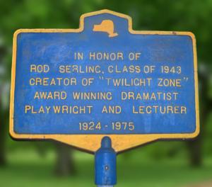 Binghamton, New York, memorial sign for Rod Se...
