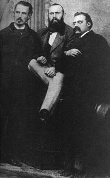 Erwin Rohde, Carl von Gersdorff y Friedrich Nietzsche, mediados de octubre de 1871.