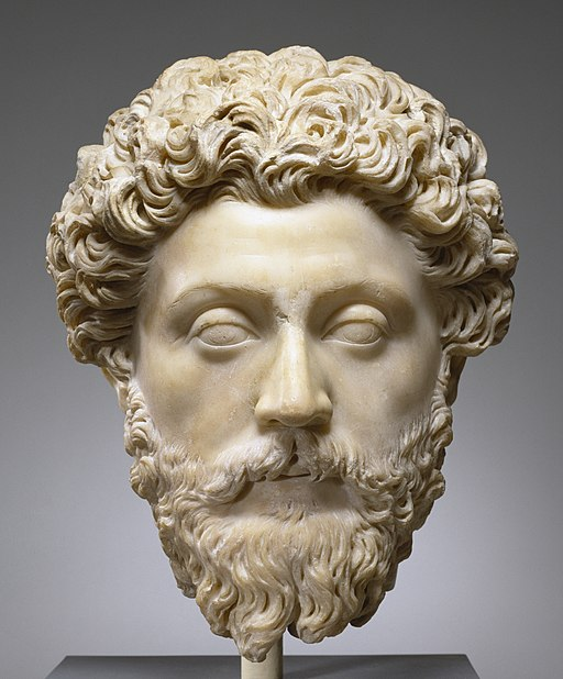 Roman - Portrait of the Emperor Marcus Aurelius - Walters 23215 (cropped)