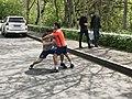 Roman Amiyan and Malkhas Amiyan in The Open air gym of Hrazdan gorge (1).jpg