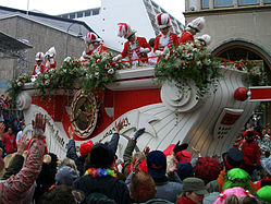 Colourful carnival float in Cologne