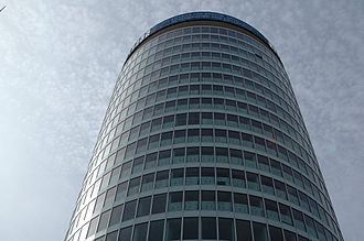 Big City Plan - The Rotunda in 2007 during the refurbishment. The majority of the windows and cladding were installed.