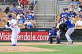 Royals Alfredo Escalera against Dodgers Pitcher Adam Liberatore.jpg
