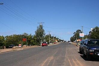 Rubyvale, Queensland - Main street of Rubyvale